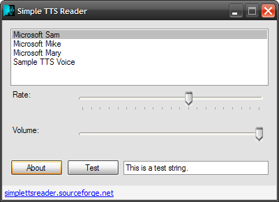 Simple TTS Reader Screenshot